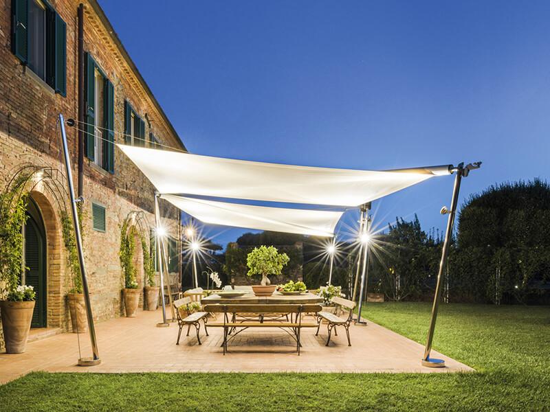 Photo de voile d'ombrage & parasol